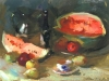 Sergei Bongart Still Life with Watermelon -SOLD