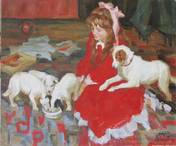 Shapovalenko - With Her Favorite Pets