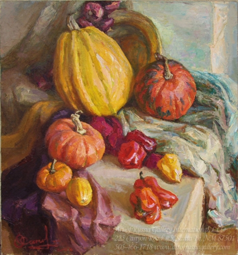 Shapovalenko - Still Life With Pumpkin
