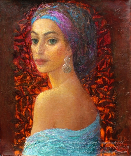 Yevgeni Shchukin - Portrait of the Young Woman
