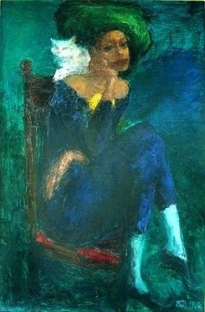 Yevgeni Shchukin - Harlequin In  Green Hat