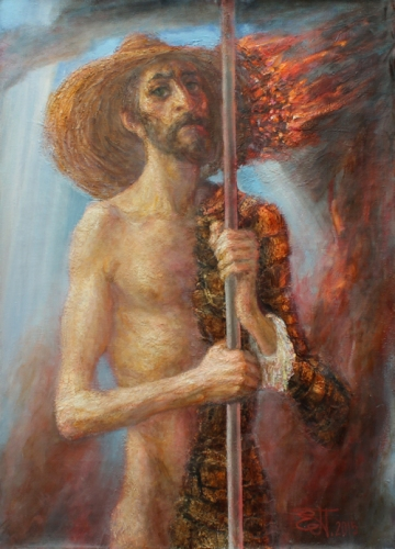 Yevgeni Shchukin - Self Portrait Don Quixote